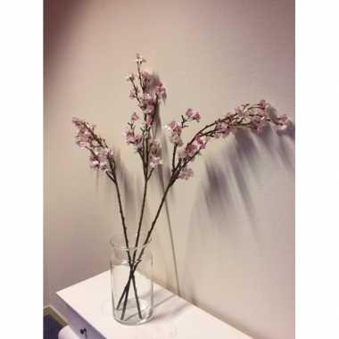 Hobby vaas roze appelbloesem kunstbloemen takken