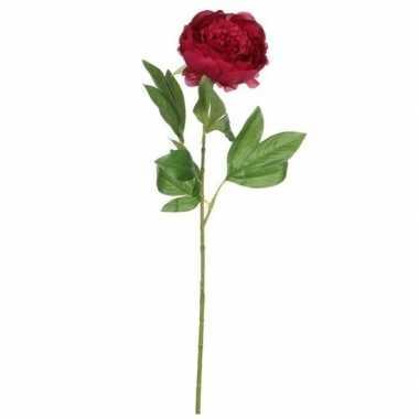 Hobby valentijn donkerroze pioenroos kunstbloem