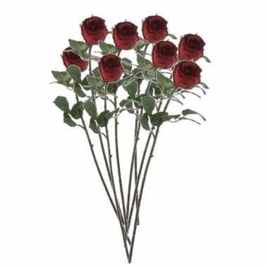 Hobby valentijn rode rozen kunstbloemen