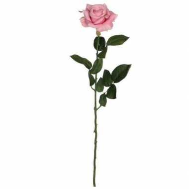 Hobby valentijn roze roos kunstbloem