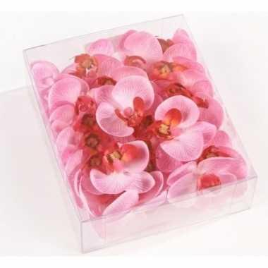 Hobby valentijn roze strooi vlinderorchideeblaadjes decoratie
