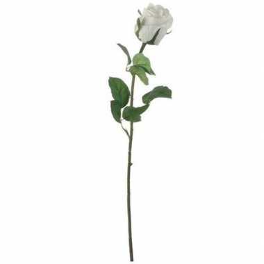 Hobby valentijn witte roos kunstbloem
