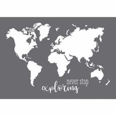 Hobby verfsjabloon wereldkaart a formaat