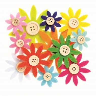Hobby vilt gekleurde vilten bloemen knoop ,
