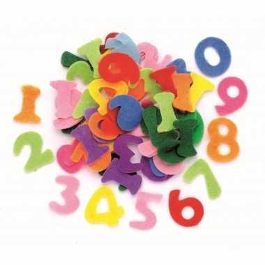 Hobby vilt gekleurde vilten cijfers ,