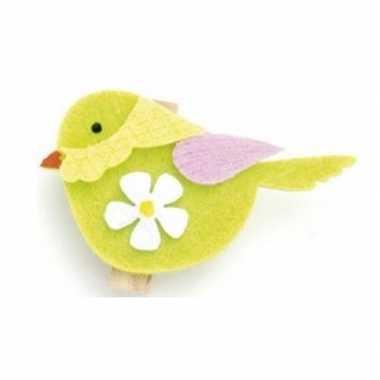 Hobby vilt vogel klem st ,x,cm groen