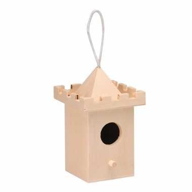 Hobby vogelhuisje kasteeltoren