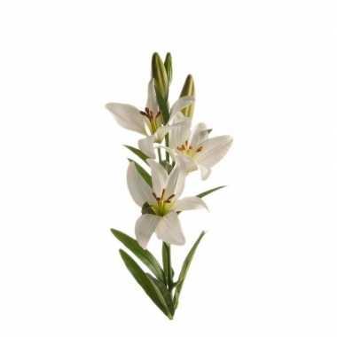 Hobby witte lilium candidum/witte lelie kunstbloem