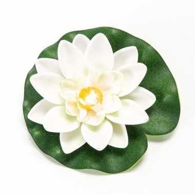 Hobby witte lotus/waterlelie kunstbloem