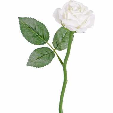 Hobby witte roos kunstbloem