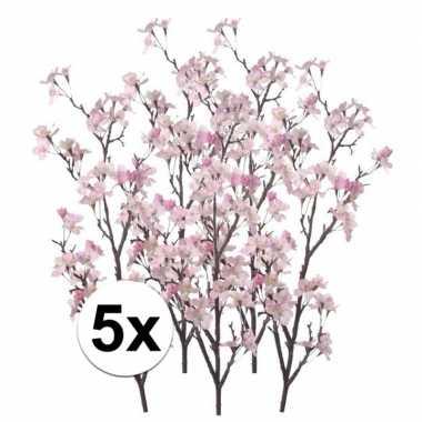 Hobby x appelbloesem roze kunstbloemen