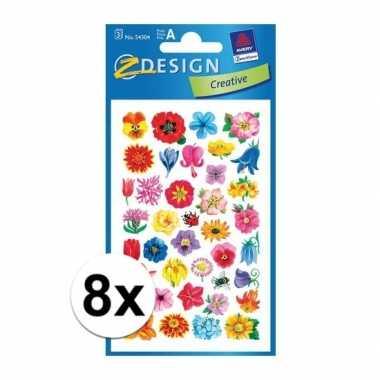 Hobby x bloemen stickers vellen