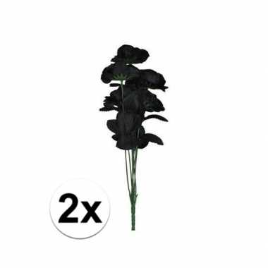 Hobby x boeket zwarte rozen kunstbloemen