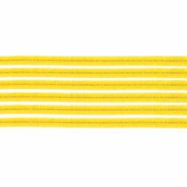 Hobby x chenilledraad geel