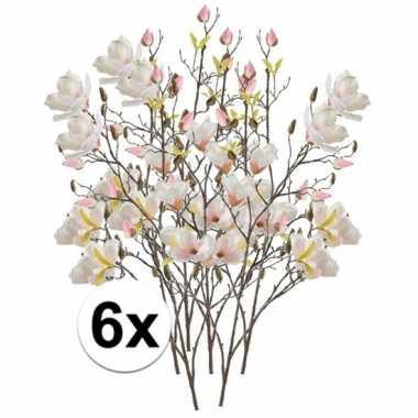 Hobby x creme magnolia kunstbloemen tak