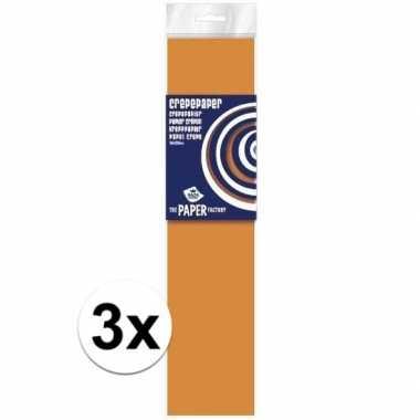 Hobby x crepe papier neon oranje knutsel materiaal