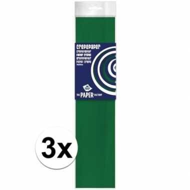 Hobby x crepe papier plat groen knutsel materiaal