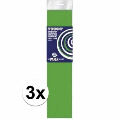 Hobby x crepe papier plat neon lime knutsel materiaal