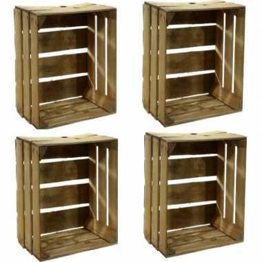 Hobby x gebruikte houten fruitkisten