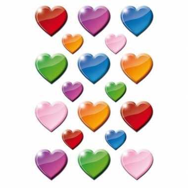 Hobby x gekleurde hartjes figuren stickers
