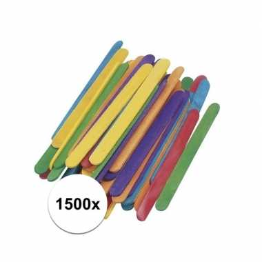 Hobby x gekleurde ijsstokjes knutselhoutjes ,