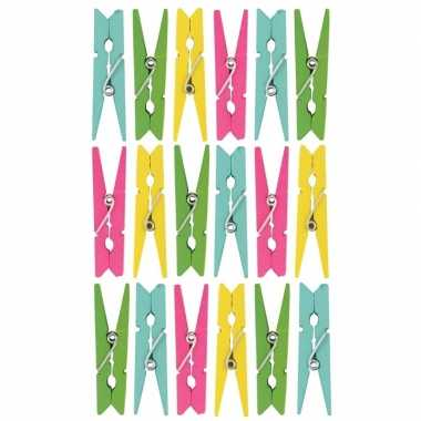 Hobby x gekleurde mini knijpertjes decoratie materiaal