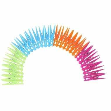 Hobby x gekleurde wasknijpers kunststof