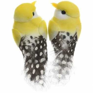 Hobby x gele vogels decoraties draad
