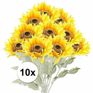 Hobby x gele zonnebloem kunstbloemen