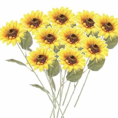 Hobby x gele zonnebloemen kunstbloemen