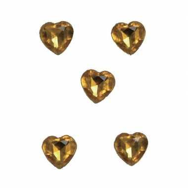 Hobby x gouden decoratie hartjes diamanten