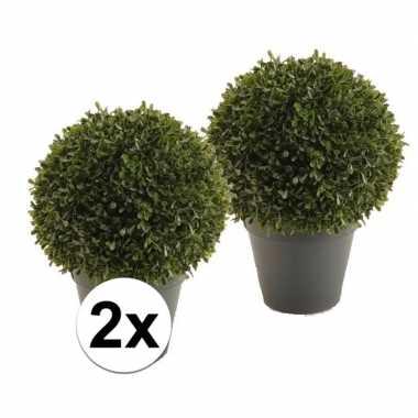 Hobby x groene buxus bal kunstplant