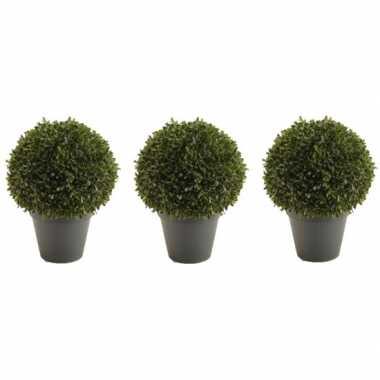 Hobby x groene buxus bal kunstplanten