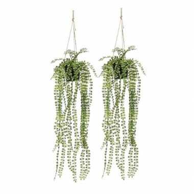 Hobby x groene ficus pumila kunstplanten hangende pot