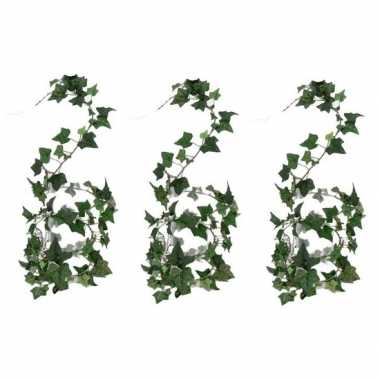 Hobby x groene hedera helix/klimop kunstplant binnen