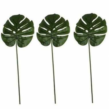 Hobby x groene monstera/gatenplant kunsttak kunstplant