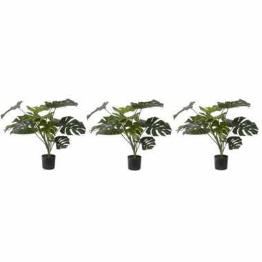 Hobby x groene monstera kunstplanten binnen
