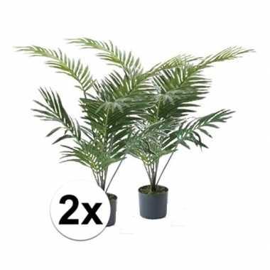 Hobby x groene palmboom kunstplant pot
