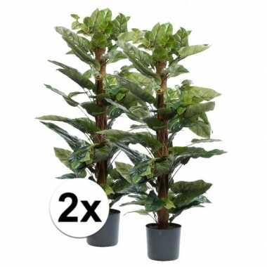 Hobby x groene philodendron kunstplanten