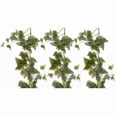Hobby x groene/witte hedera helix/klimop kunstplanten slingers