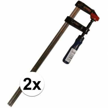X grote lijmklemmen/hobbyklemmen metaal