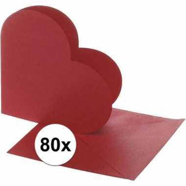 Hobby x hartvormige kaarten rood