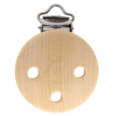 Hobby x houten speenkoord/wagenspanner clip naturel mm