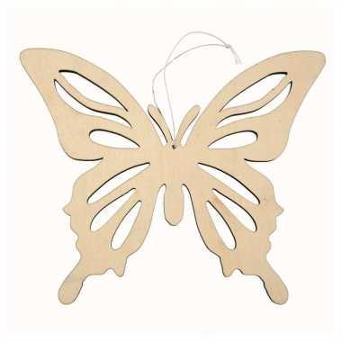 Hobby x houten vlinders , ophang decoratie