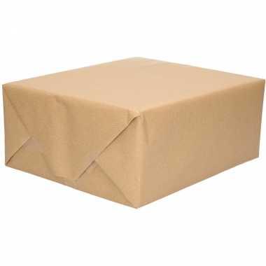 Hobby x inpakpapier/cadeaupapier gerecycled kraft bruin