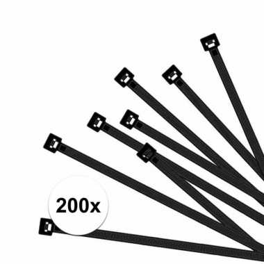 Hobby x kabelbinders zwart , mm