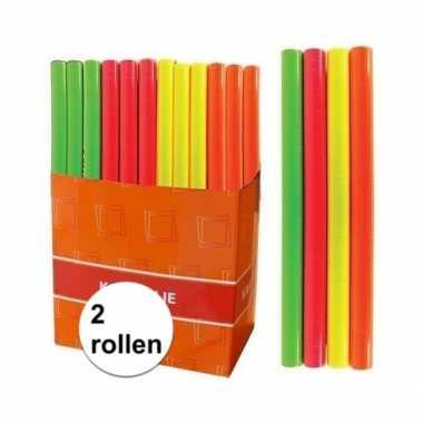 Hobby x kaftpapier folie schoolboeken neon roze meter