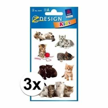 Hobby x kitten stickers vellen