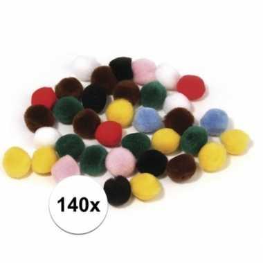 Hobby x kleuren assortiment knutsel pompons mm