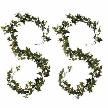 Hobby x klimop/hedera kunstplanten slingers groen